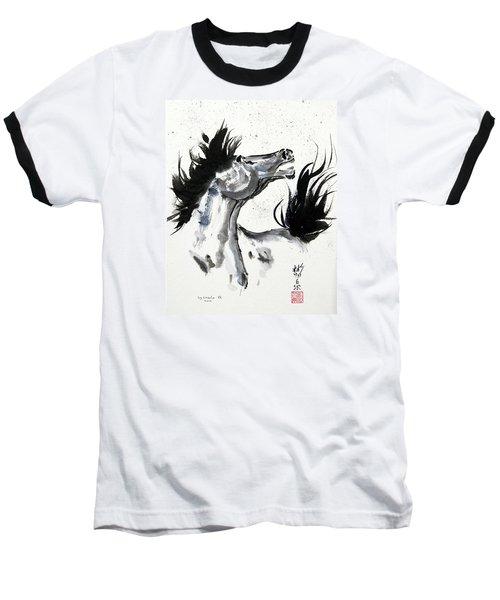 Wind Fire Baseball T-Shirt by Bill Searle