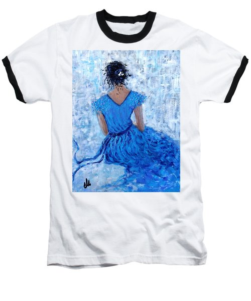 Baseball T-Shirt featuring the painting Wind Of Hope.. by Cristina Mihailescu