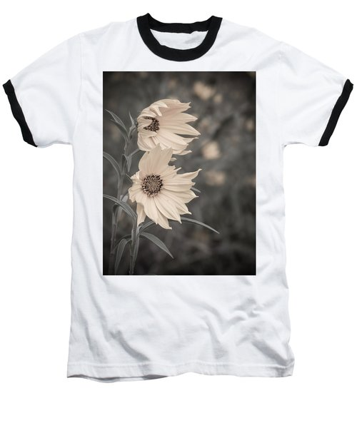 Windblown Wild Sunflowers Baseball T-Shirt