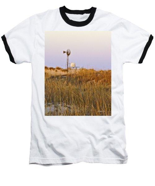 Windmill At Dusk 2011 Baseball T-Shirt