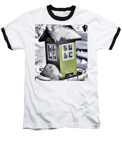 Baseball T-Shirt featuring the photograph Winter Birdfeeder by Nina Silver