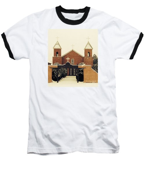 Winter Church Baseball T-Shirt