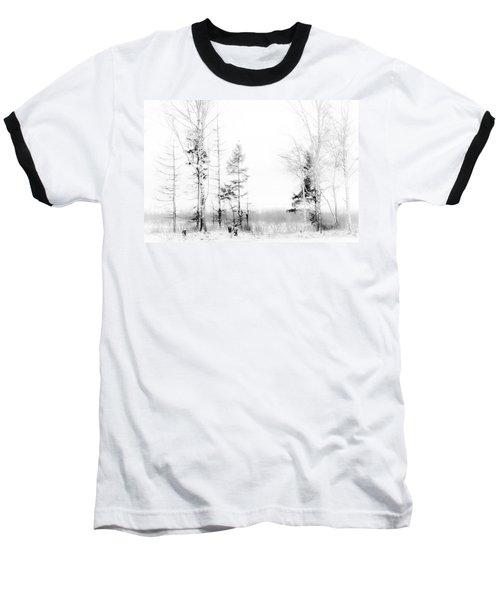 Winter Drawing Baseball T-Shirt