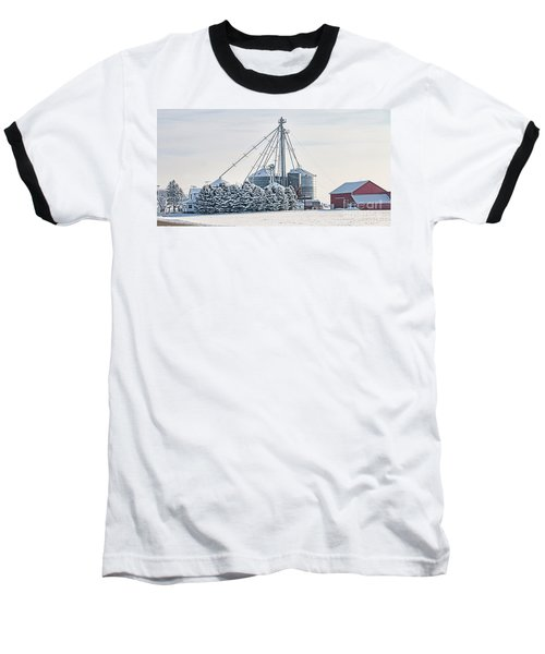 Winter Farm  7365 Baseball T-Shirt by Jack Schultz