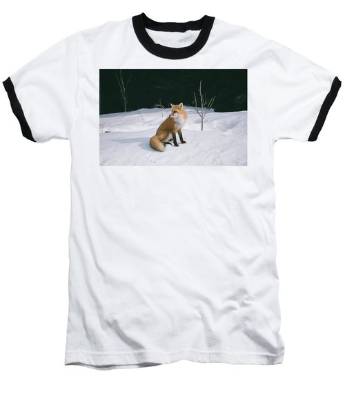 Winter Fox Baseball T-Shirt