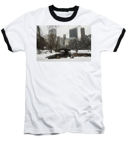 Winter In Central Park Baseball T-Shirt