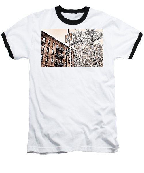 Winter In The Bronx Baseball T-Shirt
