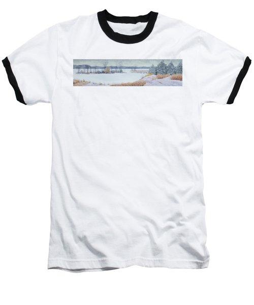 Winter Lake And Cedars Baseball T-Shirt