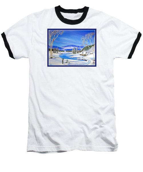 Winter Magic At A Mountain Getaway Baseball T-Shirt