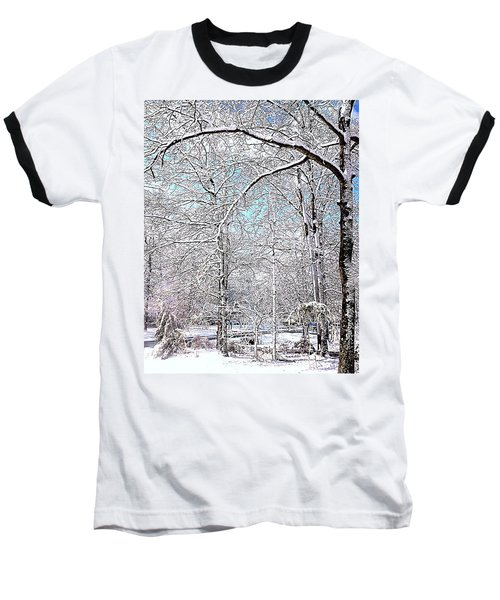 Winter On A Spring Day Baseball T-Shirt by Pamela Hyde Wilson