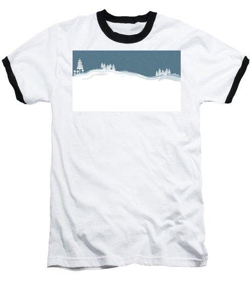 Winter Pines Baseball T-Shirt