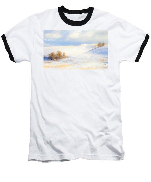 Winter Poplars Baseball T-Shirt