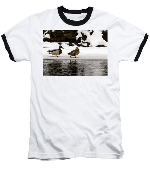 Winter Stroll Baseball T-Shirt