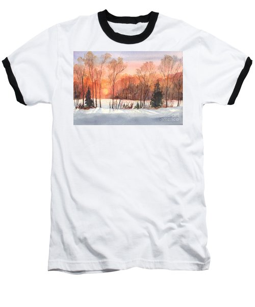 A Hedgerow Sunset Baseball T-Shirt