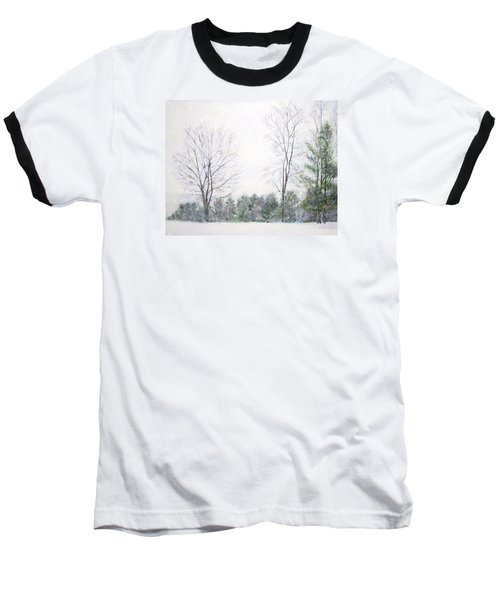 Winter Wonderland Usa Baseball T-Shirt