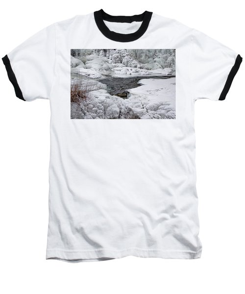 Baseball T-Shirt featuring the photograph Vermillion Falls Winter Wonderland by Patti Deters