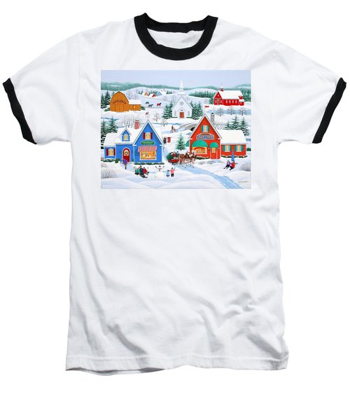 Wintertime In Sugarcreek Baseball T-Shirt