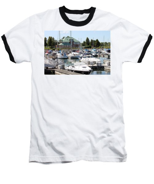 Baseball T-Shirt featuring the photograph Winthrop Harbor by Debbie Hart