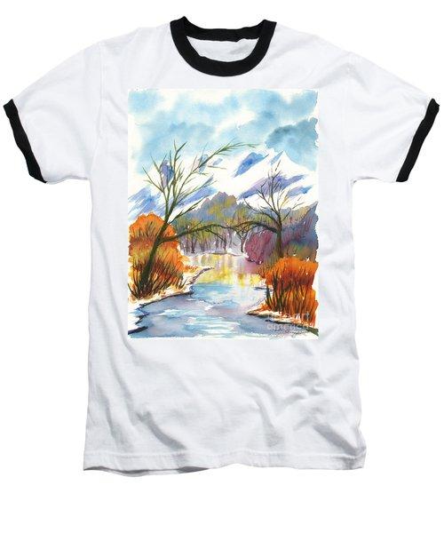Wintry Reflections Baseball T-Shirt