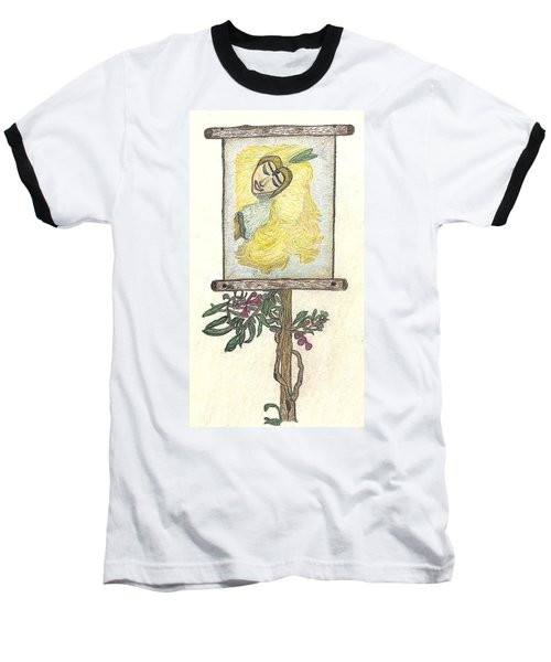 Baseball T-Shirt featuring the drawing Wish And Tell by Kim Pate