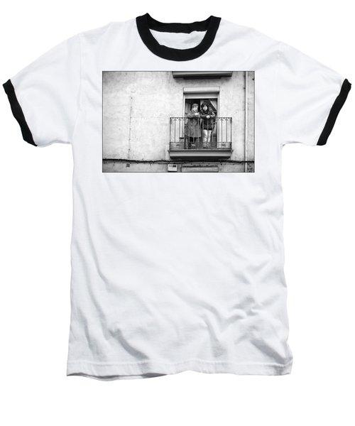 Women In Balcony Baseball T-Shirt