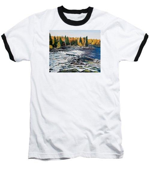 Wood Falls 2 Baseball T-Shirt by Marilyn  McNish