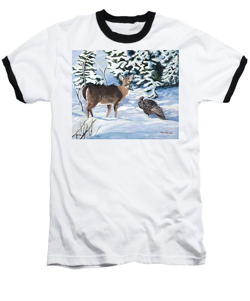 Woodland Creatures Meet Baseball T-Shirt