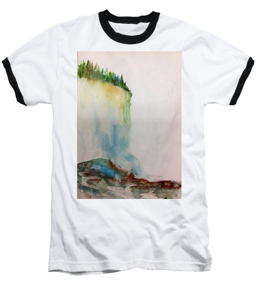 Woodland Trees On A Cliff Edge Baseball T-Shirt