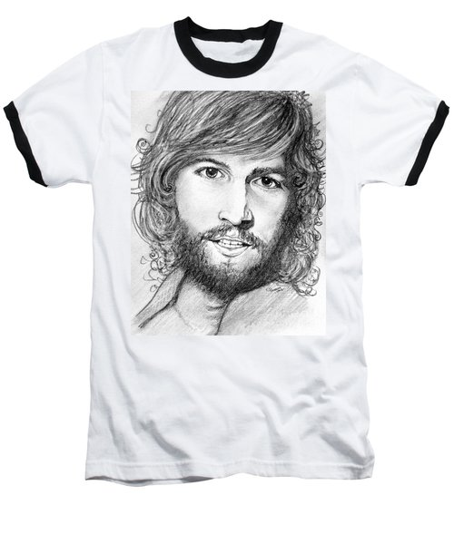 Baseball T-Shirt featuring the drawing Barry Gibb  by Patrice Torrillo