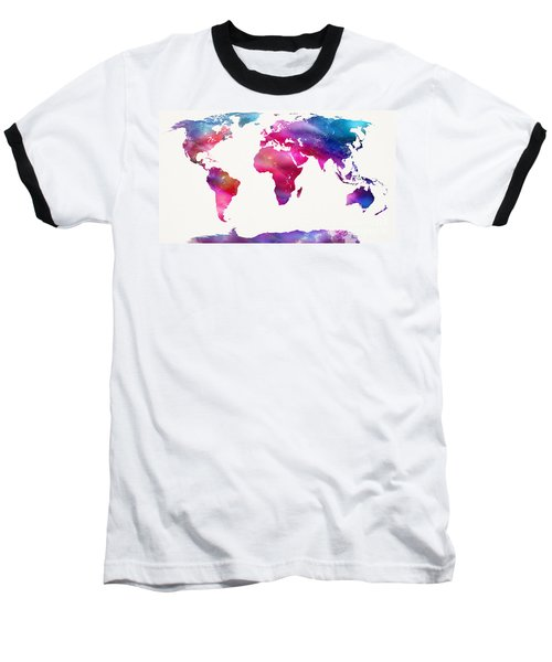 World Map Light  Baseball T-Shirt