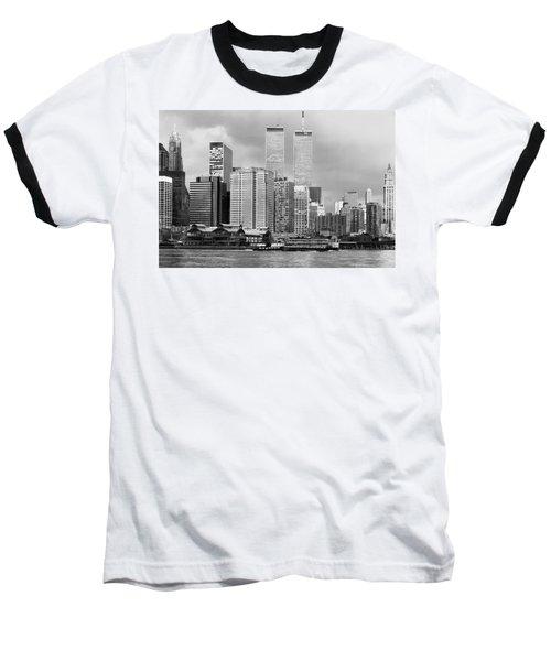 New York City - World Trade Center - Vintage Baseball T-Shirt