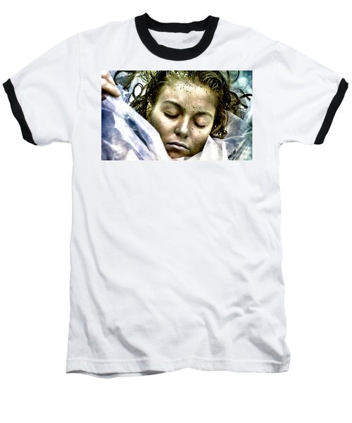 Baseball T-Shirt featuring the painting Wrapped In Plastic by Luis Ludzska