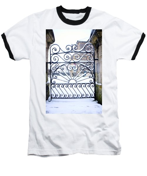 Wrought Iron Snow Baseball T-Shirt