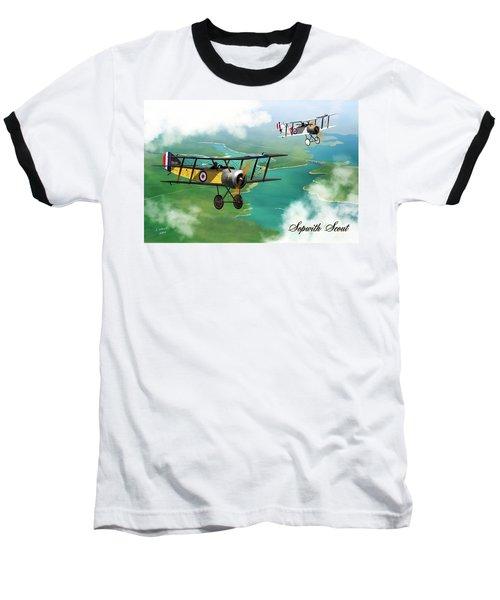 Ww1 British Sopwith Scout Baseball T-Shirt
