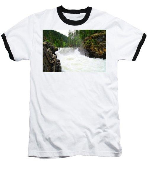 Yaak Falls Baseball T-Shirt by Jeff Swan