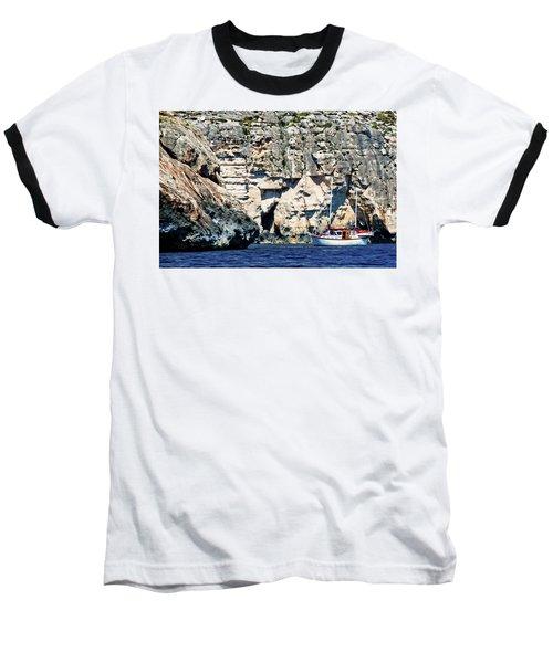 Yacht In Sea Near Popeye Village Baseball T-Shirt