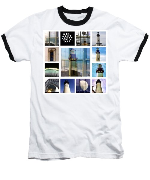 Yaquina Head Lighthouse Essence  Baseball T-Shirt