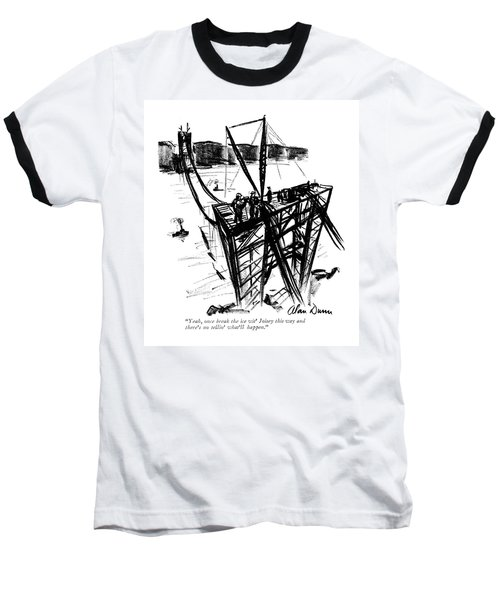 Yeah, Once Break The Ice Wit' Joisey This Way Baseball T-Shirt