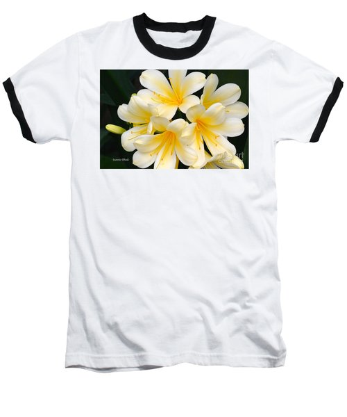 Baseball T-Shirt featuring the photograph Clivia Yellow Flowers by Jeannie Rhode