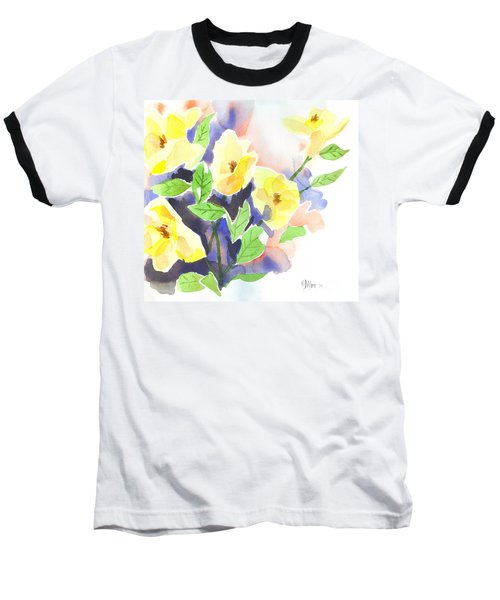Baseball T-Shirt featuring the painting Yellow Magnolias by Kip DeVore