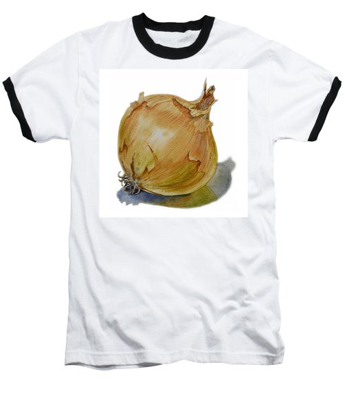 Yellow Onion Baseball T-Shirt by Irina Sztukowski
