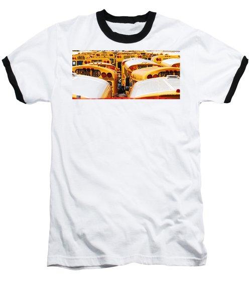 Yellow School Bus Baseball T-Shirt