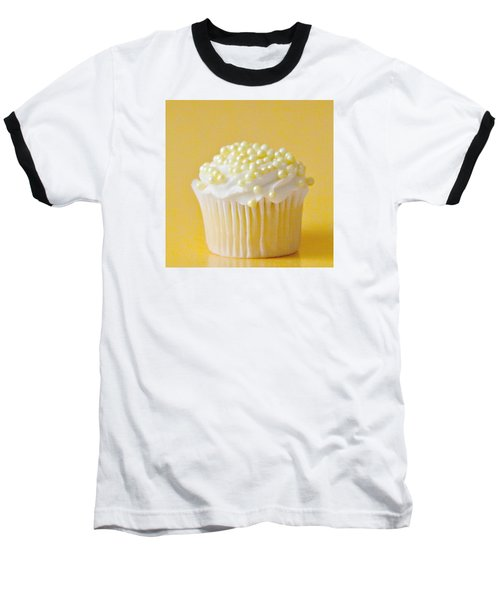 Yellow Sprinkles Baseball T-Shirt by Art Block Collections
