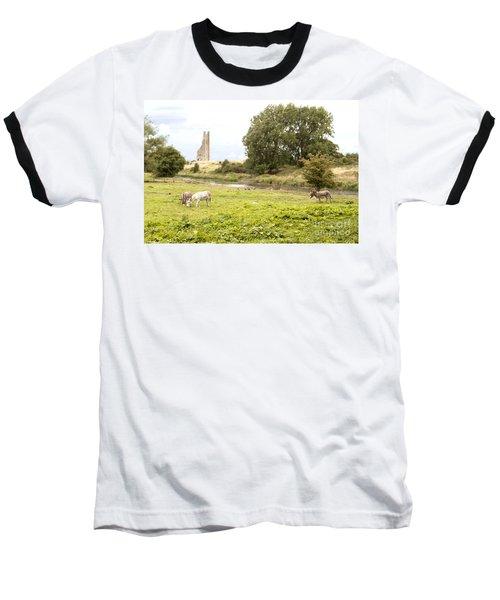 Yellow Steeple Amidst Meath Ireland Baseball T-Shirt