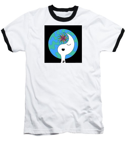 Yin Yang Crown 4 Baseball T-Shirt
