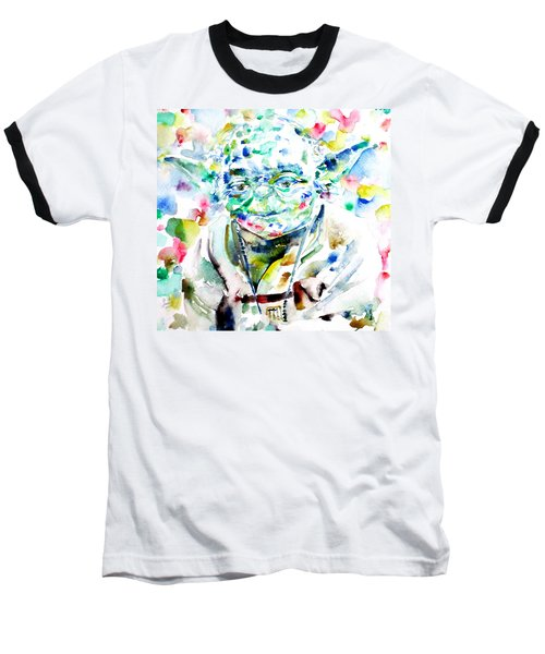 Yoda Watercolor Portrait.1 Baseball T-Shirt