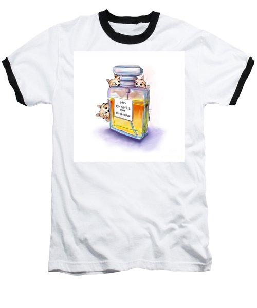Yorkie Chanel Crazies Baseball T-Shirt