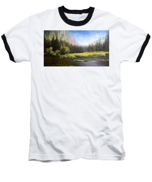 Yosemite Baseball T-Shirt by Loxi Sibley