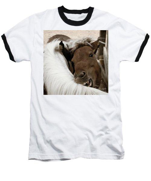 You Scratch Mine Baseball T-Shirt by Carol Lynn Coronios