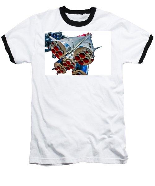 Yuri Gagarin's Spacecraft Vostok-1 - 5 Baseball T-Shirt by Alexander Senin